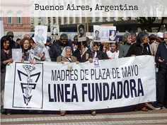 40 years after a group of mothers came to protest the disappearance of their children, the Madres de Plaza de Mayo still come together every Thursday. Guide Book, 40 Years, Photo Wall, Adventure, World, Link, Travel, Buenos Aires, Photograph