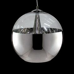 Bethel International GL30MCH 1 Light GL Series Medium Ball Shaped Large Pendant