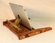 iPad Workstation  Keyboard  Tablet  Dock   Steampunk by woodguy32, $89.00