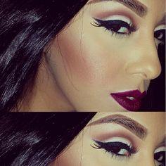 ♥ I love the lip color !!!