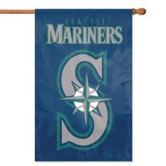 """Seattle Mariners MLB Applique Banner Flag (44""""x28"""")"""