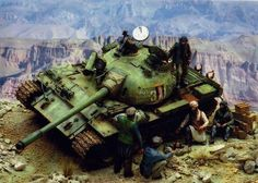 1/35 afghan tank t-62 #scale #model #t62 #afghan #diorama Military Figures, Military Diorama, Military Art, Scale Model Ships, Scale Models, T 62, Armoured Personnel Carrier, Model Tanks, Afghanistan War