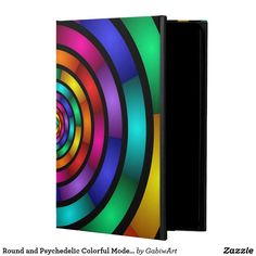 Round and Psychedelic Colorful Modern Fractal Art Powis iPad Air 2 Case