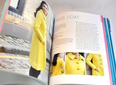 The Great British Sewing Bee book, 1960s Coat Pattern #sewing #vintage #sewingbee #gbsb #sewingmachine #singer #craft #coat #yellow #sixties #pattern