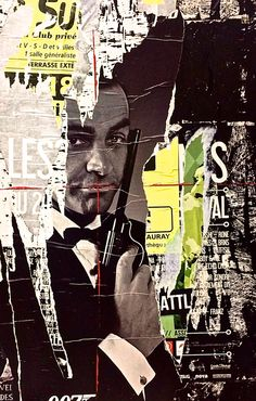 James Bond, Street Art, Pop Art, Affiche, Collage, Affiche, Jeff Callec