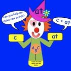 This is a Smart Notebook 11 file. There are 8 pages in this file which feature Word Family Clown.  Students are asked to help the clown read the ...