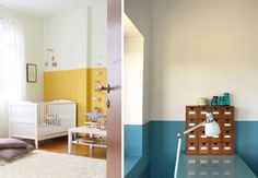 pretty painted half walls