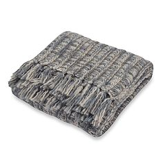 Carter Knit Grey Throw; $39.99