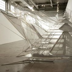 Architects Oyler Wu have created an aluminium staircase called Live Wire at the SCI-Arc gallery in Los Angeles, USA.