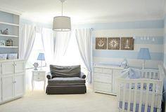 Project Nursery - Blue and White Nautical Nursery - Project Nursery