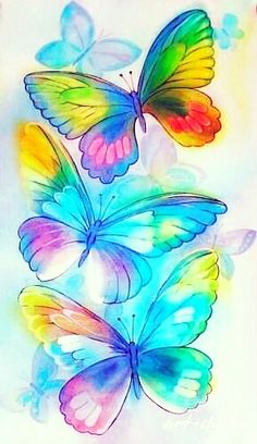 Mariposas que andan volando flor en flor se enamoran y luego buscan un nuevo néctar a probar . Sólo aparecen cuando las flores se pintan de bellos colores... María de Lourdes Lucero MÍ PAÍS NUESTROS DERECHOS Butterfly Drawing, Butterfly Painting, Butterfly Wallpaper, Butterfly Flowers, Beautiful Butterflies, Unicornios Wallpaper, Cellphone Wallpaper, Colorful Wallpaper, Wallpaper Backgrounds