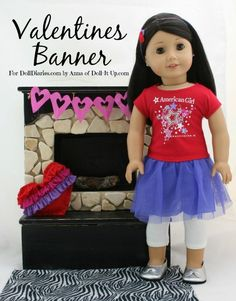 Doll Craft-A Simple Valentines Banner