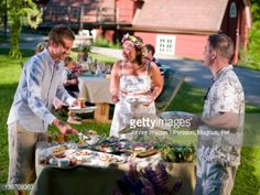 View Stock Photo of Group Of People Eating Lunch In Garden. Find premium, high-resolution photos at Getty Images.