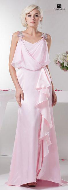 NEW! Fantastic chiffon V-neck neckline floor-length sheath formal dresses with beadings(SOD69083)