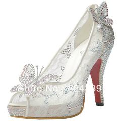 Glass Slippers Wedding Shoes | Limited-Cinderella-Glass-Slipper-sandals-crystal-wedding-shoes-high ...