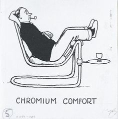 "Chromium Comfort from ""How to Live in a Flat"" by William Heath Robinson."