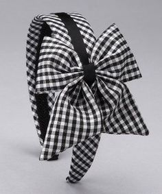 8fd159502 This SBNY Petite Black Gingham Bow Headband by SBNY Petite is perfect!  #zulilyfi.