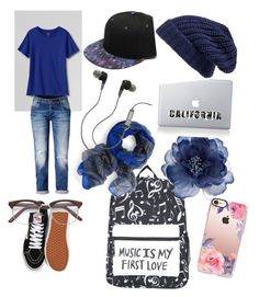 💙 by caitycheer on Polyvore featuring polyvore, fashion, style, Lands' End, Vans, Hinge, Vinyl Revolution, Accessorize, Casetify, Merkury and clothing