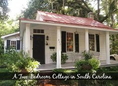 This charming 2-bedroom cottage in Beaufort, South Carolina, is notable for being the first one-room schoolhouse built in the area in the mid-1800s.