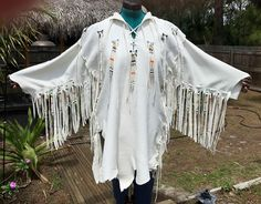 A personal favorite from my Etsy shop https://www.etsy.com/listing/515062296/white-deerskin-shirt-or-jacket-native