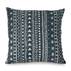 Maris Stripe cushion in Slate Blue, Printed by hand in our studio in Cornwall. Striped Cushions, Printed Cushions, Cornwall, Slate, Throw Pillows, Studio, Prints, Chalk Board, Cushions