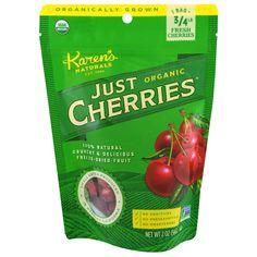 Karen's Naturals, Just Organic Cherries, 2 oz g) (Discontinued Item) Fruit Snacks, Protein Snacks, Vegan Snacks, Yummy Snacks, Homemade Rye Bread, Organic Salmon, Freeze Dried Fruit, Herb Salad, Vitamins For Kids