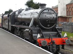45110: LMS Stanier Class 5 4-6-0 45110 at Kidderminster. Photo by P Richardson, 31-March-2008