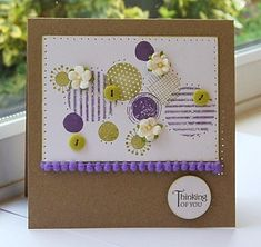 what's happened to the weather.lashing rain and sunshine all in one day bu. Girls Time, Button Art, Scrapbook Cards, Scrapbooking, Card Maker, Cute Cards, I Card, Making Ideas, Thank You Cards