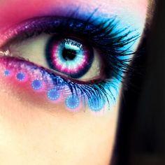 pink & blue eye shadow