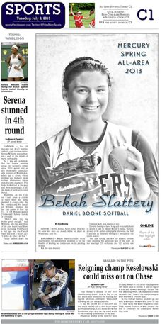 Daniel Boone's Bekah Slattery named The Mercury's 2013 All-Area Softball Player of the Year. http://www.pottsmerc.com/article/20130701/SPORTS01/130709962/all-area-boone-s-slattery-is-softball-player-of-the-year