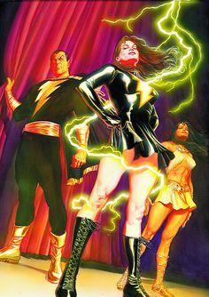 Alex Ross covers JSA #25.