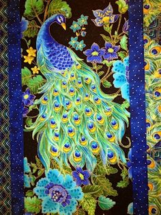 Peacock Art...Peacock Quilt...By Artist Unknown...