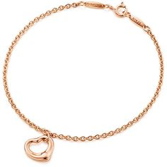 Elsa Peretti® Open Heart Bracelet (4,870 GTQ) ❤ liked on Polyvore featuring jewelry, bracelets, 18k jewelry, elsa peretti jewelry, 18k rose gold jewelry, pink gold jewelry and 18k bangle