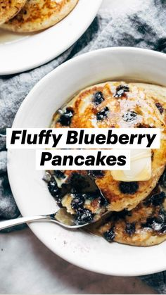 Breakfast Dishes, Breakfast Recipes, Brunch Recipes, Dessert Recipes, Blueberry Recipes, Blueberry Pancakes, Plat Vegan, Love Food, Baking Recipes