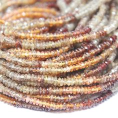 Natural Multi Sapphire Shaded Faceted Roundel Beads Strand – Jewels Exports