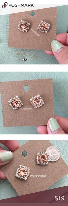 Gorgeous Earrings Diamond style earrings • Super cute & chic • Never worn, new condition • third photo shows earrings next to a dime for size reference • NO TRADES‼️ • 15% off bundles  Jewelry Earrings
