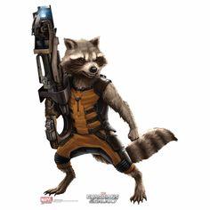 Guardians Of The Galaxy Rocket Raccoon Cutout