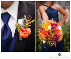 Barri-Mike Orange and Navy Blue Summer Thomas Birkby House Wedding Leesburg VA Washington DC Northern Virginia Loudoun Kelly Ewell Photography