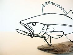 Walleye Fish Wire Sculpture by WiredbyBud on Etsy, $35.00