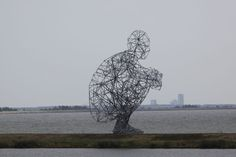 """EXPOSURE by Antony Gormley, 2010  As one approaches the sculpture, Gormley says: """"The nature of the object changes. You can see it as a human form in the distance. It becomes more abstract the closer you get to it. And finally it becomes a chaotic frame through which you can look at the sky."""""""