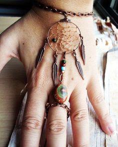 Hippie: Bohemian Dreamcatcher Slave Bracelet Boho Hippie Stone Tribal Gypsy... - Bracelets