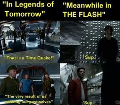 Legends of tomorrow vs. flash meeting future and past selves
