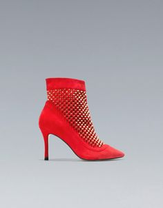 FASHION STUDDED ANKLE BOOT - Shoes - Woman - ZARA United States
