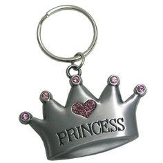 key chains | Gloria Duchin Pewter Princess Crown Key Chain