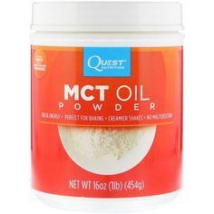 Quest Nutrition, MCT-Öl-Pulver, 16 oz g) iherb Quest Protein Powder, Macronutrient Ratio, Quest Nutrition, Smoothie Prep, Baking Accessories, Mct Oil, Calorie Diet, Saturated Fat, Serving Size