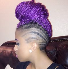 Colored box braids