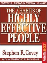 In The 7 Habits of Highly Effective People, author Stephen R. Covey presents a holistic, integrated, principle-centered approach for solving personal and professional problems. With penetrating insights and pointed anecdotes, Covey reveals a step-by-step pathway for living with fairness, integrity, service, and human dignity -- principles that give us the security to adapt to change and the wisdom and power to take advantage of the opportunities that change creates.