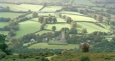 European photo of Widecombe-in-the-Moor in Devon, England by Dennis Barloga Devon England, England And Scotland, Dartmoor National Park, North Devon, English Countryside, Great Britain, Fields, National Parks, Scenery