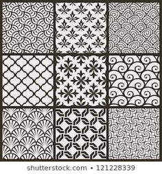 Set of the Best seamless patterns. Geometric Tattoo Pattern, Abstract Pattern, Line Background, Vector Background, Black And White Lines, Vector Pattern, Tatoos, Printing On Fabric, Triangle