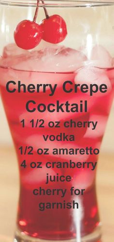 Cherry Crepe Cherry Crepe Coacktail Recipe typesofalcoholicdrink Cherry Crepe Cherry Crepe Coacktail Recipe typesofalcoholicdrinks The post Cherry Crepe Cherry Crepe Coacktail Recipe typesofalcoholicdrink appeared first on Getränk. Mezcal Cocktails, Cocktail Drinks, Sangria, Cocktail Recipes, Liquor Drinks, Non Alcoholic Drinks, Bourbon Drinks, Beverages, Christmas Drinks